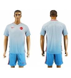 Turkey Blank Away Soccer Country Jersey
