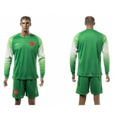 Turkey Blank Green Goalkeeper Long Sleeves Soccer Country Jersey
