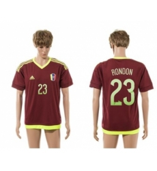 Venezuela #23 Rondon Home Soccer Country Jersey