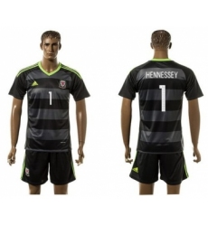 Wales #1 Hennessey Black Away Soccer Club Jersey