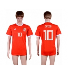 Wales #10 Speed Red Home Soccer Club Jersey