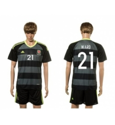 Wales #21 Ward Black Away Soccer Club Jersey
