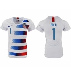 Women's USA #1 Solo Home Soccer Country Jersey