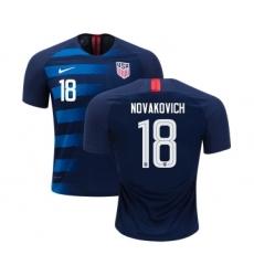 Women's USA #18 Novakovich Away Soccer Country Jersey