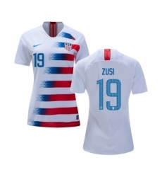 Women's USA #19 Zusi Home Soccer Country Jersey