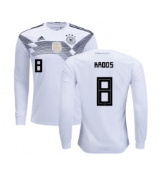 Germany #8 Kroos Home Long Sleeves Kid Soccer Country Jersey