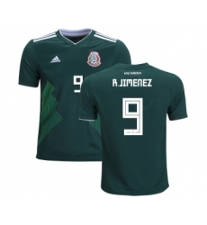Mexico #9 R.Jimenez Home Kid Soccer Country Jersey
