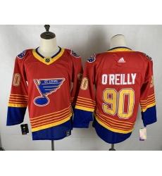 Men's St. Louis Blues #90 Ryan O'Reilly Red Fanatics Branded Royal Home Premier Breakaway Player Jersey