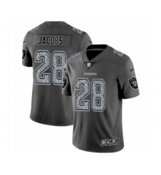Men's Oakland Raiders #28 Josh Jacobs Gray Static Fashion Limited Football Jersey