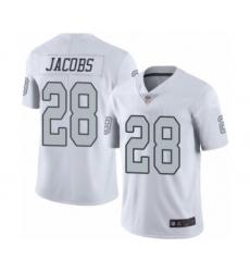 Men's Oakland Raiders #28 Josh Jacobs Limited White Rush Vapor Untouchable Football Jersey