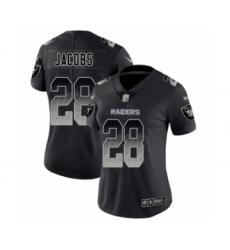 Women's Oakland Raiders #28 Josh Jacobs Black Smoke Fashion Limited Football Jersey