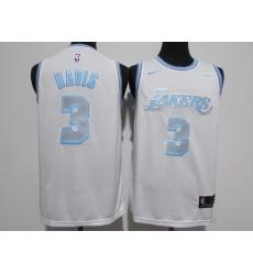 Men's Los Angeles Lakers #3 Anthony Davis Nike White 2020-21 Swingman Jersey