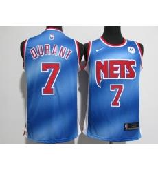 Men's Brooklyn Nets #7 Kevin Durant Blue Nike Jersey
