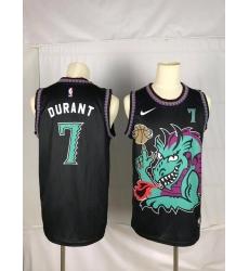 Men's Brooklyn Nets #7 Kevin Durant Dragon Black Jersey