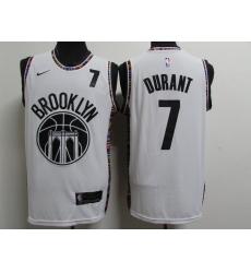 Men's Brooklyn Nets #7 Kevin Durant White Nike Swingman Player Jersey