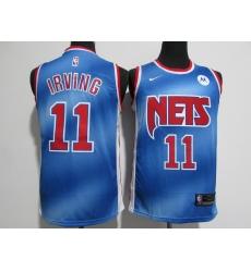 Men's Brooklyn Nets #11 Kyrie Irving Blue Nike Swingman Player Jersey