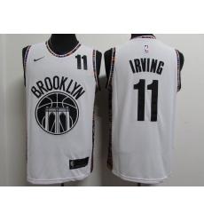 Men's Brooklyn Nets #11 Kyrie Irving White Nike Swingman Player Jersey