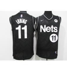 Men's Nike Brooklyn Nets #11 Kyrie Irving Black Jersey