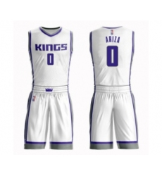 Men's Sacramento Kings #0 Trevor Ariza Swingman White Basketball Suit Jersey - Association Edition