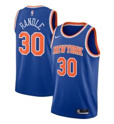 Men's New York Knicks #30 Julius Randle Nike Blue 2020-21 Swingman Jersey