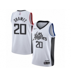 Men's Los Angeles Clippers #20 Landry Shamet Swingman White Basketball Jersey - 2019-20 City Edition