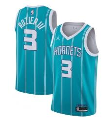 Men's Charlotte Hornets #3 Terry Rozier III Jordan Brand Teal 2020-21 Swingman Jersey