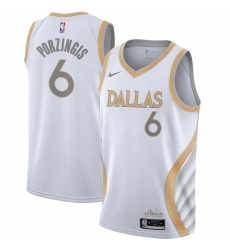 Men's Dallas Mavericks #6 Kristaps Porzingis Nike White 2020-21 Swingman Player Jersey
