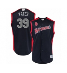 Youth San Diego Padres #39 Kirby Yates Authentic Navy Blue National League 2019 Baseball All-Star Jersey