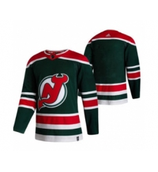 Men's New Jersey Devils Blank Green 2020-21 Reverse Retro Alternate Hockey Jersey