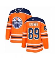 Men's Edmonton Oilers #89 Sam Gagner Authentic Orange Home Hockey Jersey