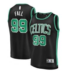 Men's Boston Celtics #99 Tacko Fall Fanatics Branded Black 2020-21 Fast Break Player Replica Jersey