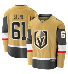 Men's Vegas Golden Knights #61 Mark Stone Fanatics Branded Gold 2020-21 Alternate Premier Breakaway Player Jersey