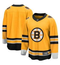 Men's Boston Bruins Fanatics Branded Blank Gold 2020-21 Special Edition Breakaway Jersey
