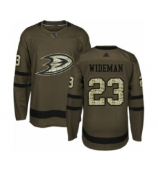 Youth Anaheim Ducks #23 Chris Wideman Authentic Green Salute to Service Hockey Jersey