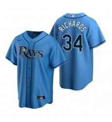 Men's Nike Tampa Bay Rays #34 Trevor Richards Light Blue Alternate Stitched Baseball Jersey