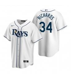 Men's Nike Tampa Bay Rays #34 Trevor Richards White Home Stitched Baseball Jersey