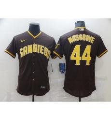 Men's Nike San Diego Padres #44 Pedro Avila Brown Collection Baseball Player Jersey