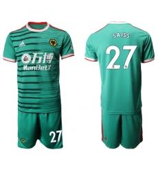 Wolves #27 Saiss Third Soccer Club Jersey