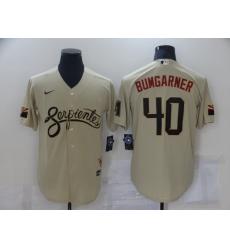 Men's Arizona Diamondbacks #40 Madison Bumgarner Gold 2021 City Connect Replica Player Jersey