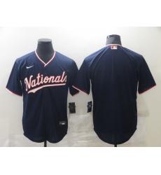Men's Nike Washington Nationals Blank Navy Home Stitched Baseball Jersey
