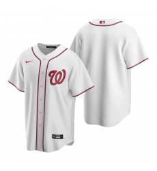 Men's Nike Washington Nationals Blank White Home Stitched Baseball Jersey