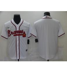 Men's Nike Atlanta Braves Blank White Authentic Jersey