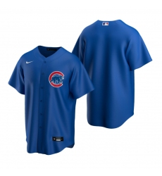 Men's Nike Chicago Cubs Blank Royal Alternate Stitched Baseball Jersey