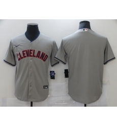 Men's Nike Cleveland Indians Blank Gray Home Baseball Jersey