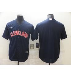 Men's Nike Cleveland Indians Blank Navy Home Baseball Jersey