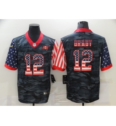 Men's Tampa Bay Buccaneers #12 Tom Brady Camo Flag Nike Limited Jersey