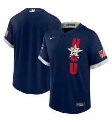 Men's Houston Astros Blank Nike Navy 2021 MLB All-Star Game Replica Jersey