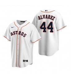 Men's Nike Houston Astros #44 Yordan Alvarez White Home Stitched Baseball Jersey