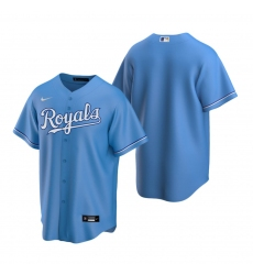 Men's Nike Kansas City Royals Blank Light Blue Alternate Stitched Baseball Jersey