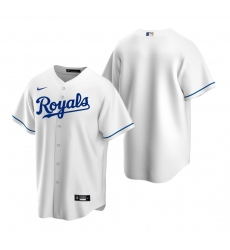 Men's Nike Kansas City Royals Blank White Home Stitched Baseball Jersey